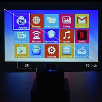 Портативный мини проектор S9 с Android 6 и WiFi, фото 3