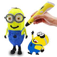 3 Д Ручка 3D Pen с дисплеем LCD пластик в подарок оригинальная качественная ручка