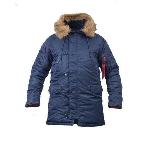 Куртка зимняя slim fit аляска n-3b Navy, фото 2