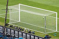 Сетка футбольная полупрофессиональная (шнур - 4мм., ячейка - 12см.)