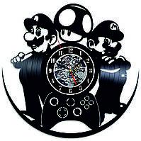 Настенные часы из виниловых пластинок LikeMark Mario