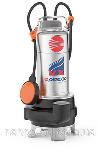 Канализационный насос фекальный Pedrollo VXm 10/50-N для выгребных ям 0.75кВт Hmax8.5м Qmax550л/мин