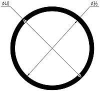 Профиль алюминиевый Труба круглая 40х2