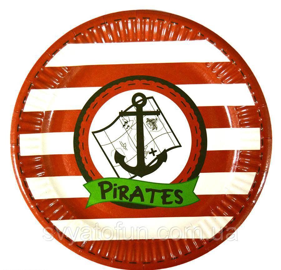 "Набор тарелок ""Пираты якорь"" 10шт/уп"
