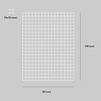 Сетка торговая 80 х 100 ( см ) ячейка 50 х 50 ( мм ) толщина 3 (мм)