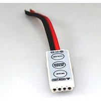 Контроллер RGB (5-24В)6А, 3 кнопки (без пульта)