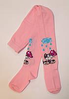 Хлопковые детские колготки розового цвета Кот и Бабочка