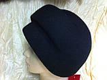 Чорний берет з фетру з діагональною смугою Польща, фото 3