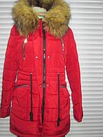 Женская зимняя куртка красного цвета, р.L (р.48)