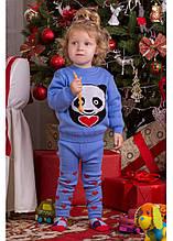 Свитер Малыш панда голубой