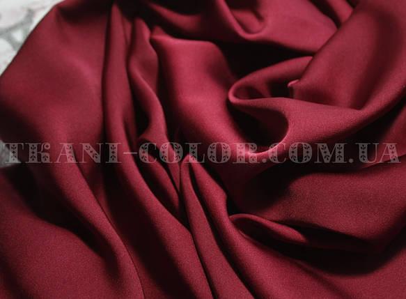 Шелк армани бордовый, фото 2
