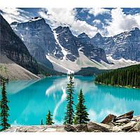 Алмазная вышивка 5D,Горный пейзаж, 40*35,полная выкладка