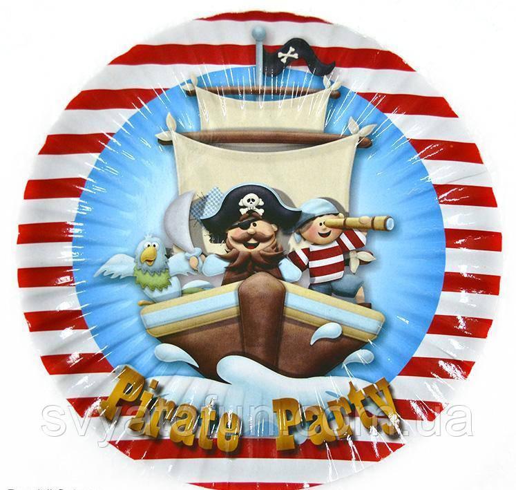 """Набор тарелок """"Пираты капитан"""" (10 шт/уп)"""