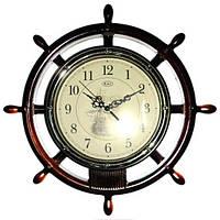 "Часы настенные RL ""Штурвал"" коричневый w006(2)"