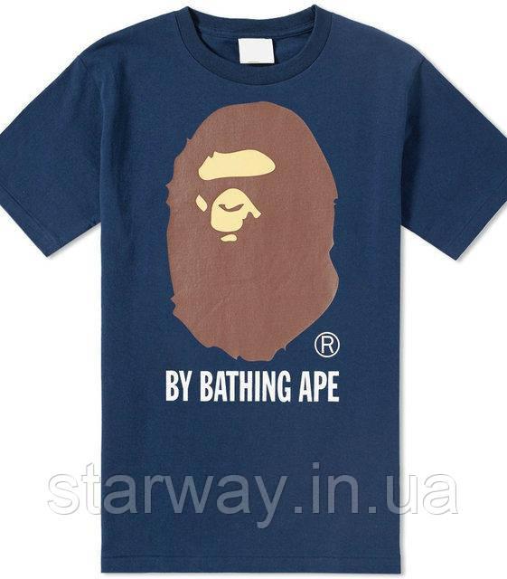 Футболка c принтом A Bathing Ape стильная