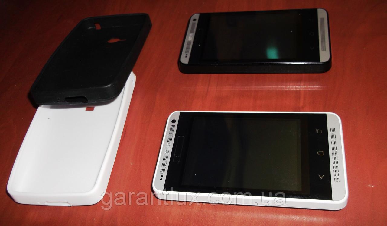 "HTC One М 7 java (Duos, 2 сим-карты) 3,2"" экран + чехол в подарок!"