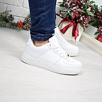 Кроссовки женские Nike Air Force белые 4051, люкс качество