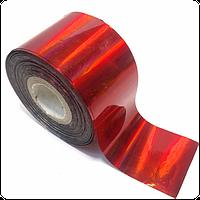 Фольга переводная для литья и дизайна красная 100 см