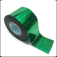 Фольга переводная для литья и дизайна зеленый песок 100 см