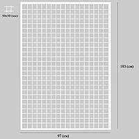Сетка в рамке без ножек 183*97 (см) в квадратном профиле 20*20 (мм)