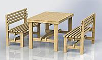 """Комплект деревянной мебели """"Одесса 1"""" 1200х800"""