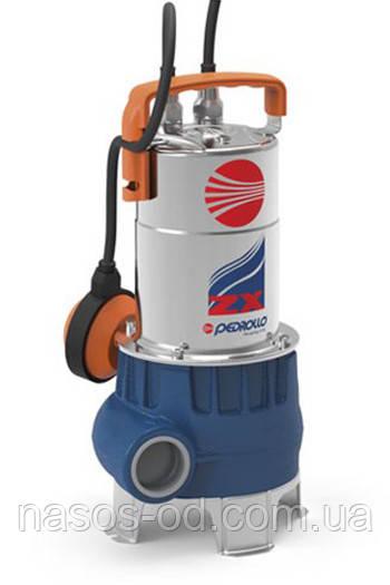Дренажно-фекальный насос Pedrollo ZXm 1A/40 для грязной воды 0.6кВт Hmax10.5м Qmax400л/мин