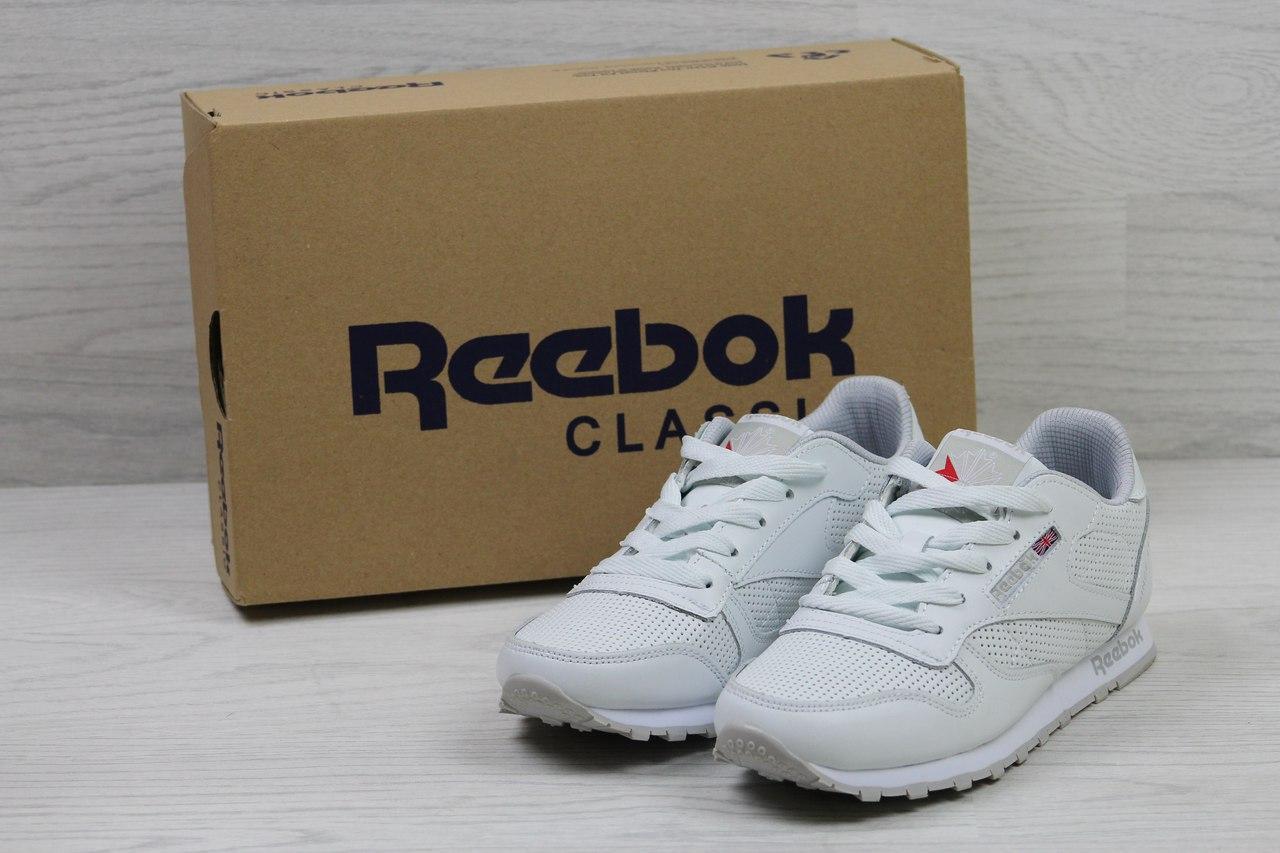 Кроссовки женские Reebok Classic Leather since 1983 (белые), ТОП-реплика