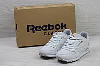 Кроссовки женские Reebok Classic Leather since 1983 (белые), ТОП-реплика, фото 1