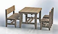 """Комплект деревянной мебели """"Одесса 3"""" 1200х800"""