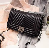 Клатч женский Chanel Le Boy Шанель Бой черный Распродажа