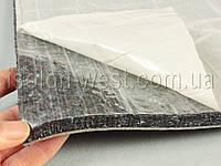 Шумоизоляция для авто войлочная влагостойкая ИВ-12К, самоклейка, толщина 12 мм, лист 100×75 см