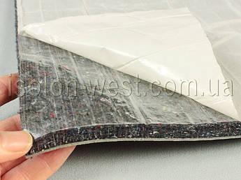 Шумоизоляция для авто войлочная влагостойкая ИВ-12К, самоклейка, толщина 12 мм, лист 100×78 см