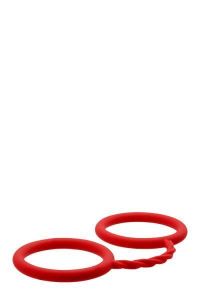 Наручники BONDX SILICONE CUFFS RED