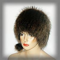 Женская шапка из енота(кубанка)