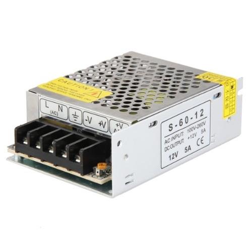 Блок питания 220V - 12V, 5A, 60W
