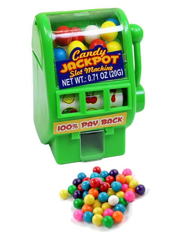 """Kidsmania Candy Jackpot Необычные конфеты """"Джекпот"""" игровой автомат диспансер (зеленый)"""