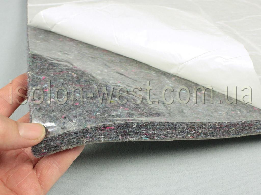 Шумоізоляція для авто повстяна вологостійка ІВ-14К, самоклейка, товщина 14 мм, лист 100×78 см