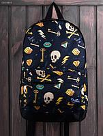 Рюкзак (с отделением для ноутбука 17″) Staff - Print 27 L Art. CBS0043 (тёмно-синий)