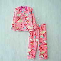 Детская теплая пижама на 2-х пуговицах рваная махра