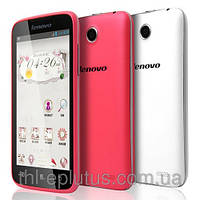 Смартфон Lenovo A390t pink 2 сим карты, 2 ядра, ОС андроид 4 + стилус в подарок!