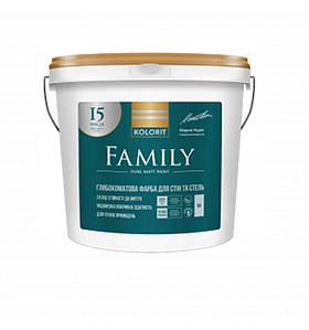 Глубоко матовая интерьерная краска Kolorit Family (Колорит Фемили) база A 9 л