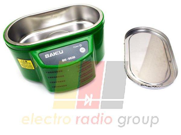 Ультразвуковая  ванна  BAKKU  BK9030 Один режим работы (30W), металлический корпус, металлическая кр