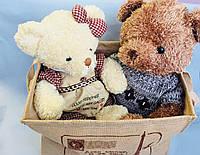 Мишка в свитере и мишка в платье, мягкие игрушки, плюш, Подарки, Днепр