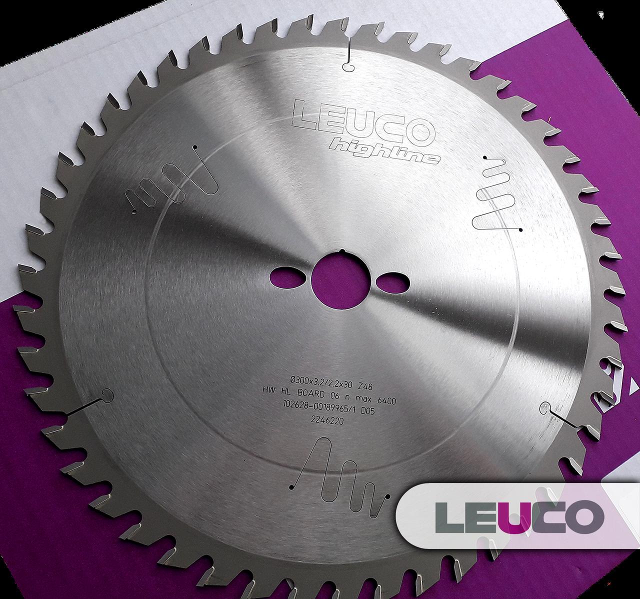 300x3,2x2,2x30 Z=48 Универсальная дисковая пила Leuco для торцевания и продольного раскроя древесины
