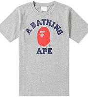 Футболка серая c принтом A Bathing Ape