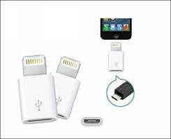 Адаптер переходник Lightning to Micro USB