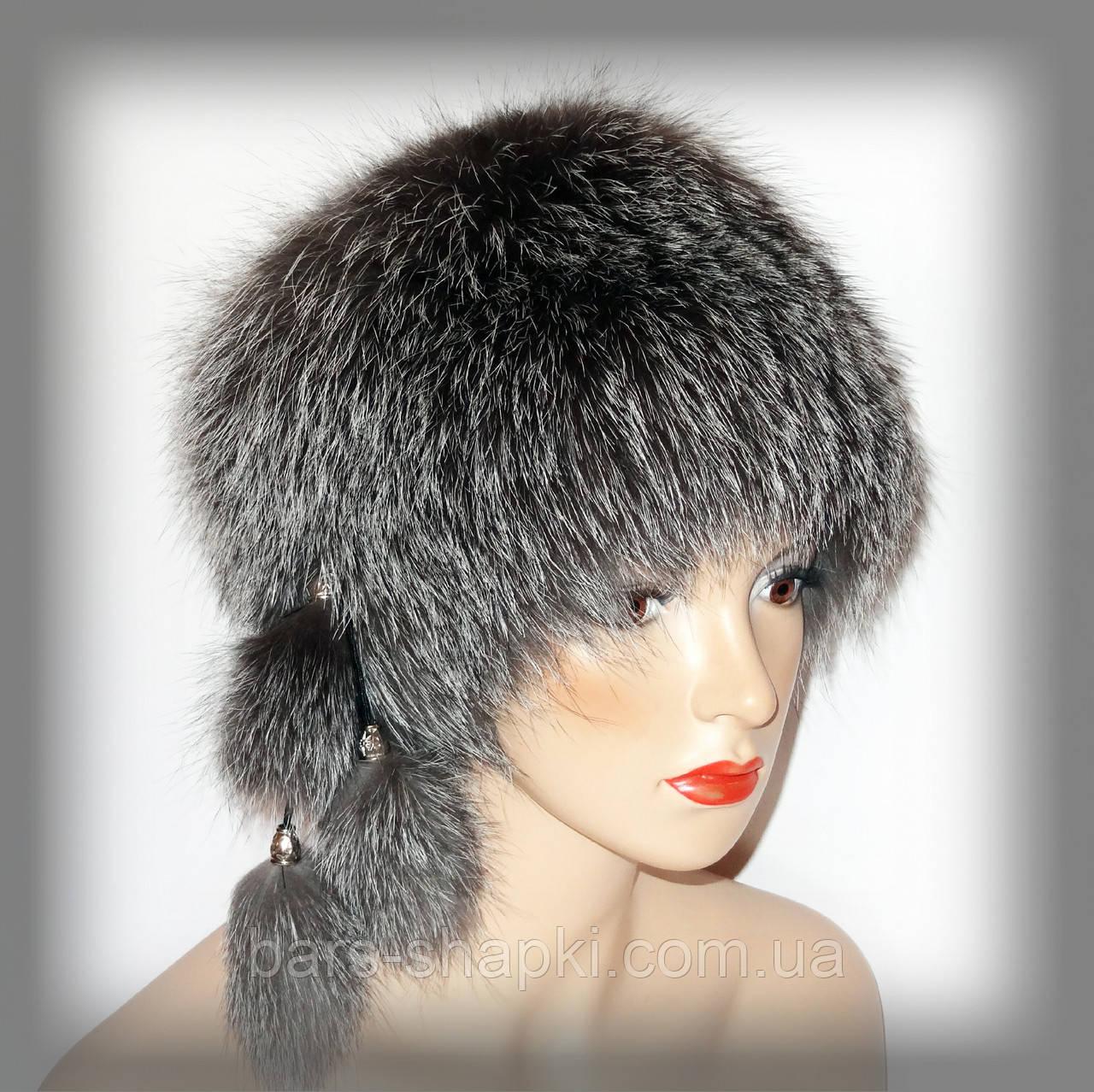 Женские шапки из чернобурки оптом