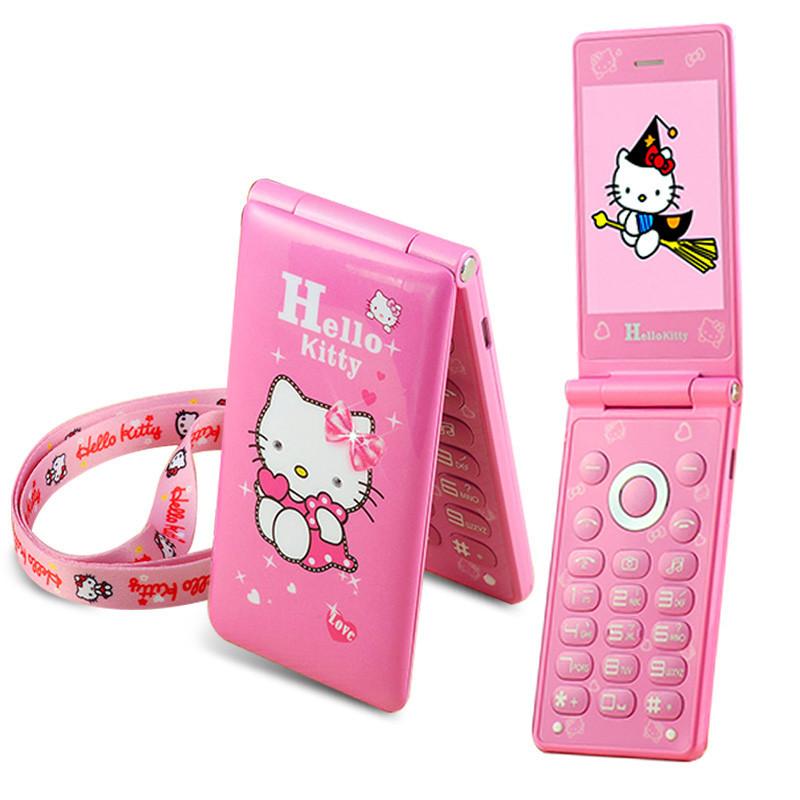 Телефон с котиком Hello Kitty D10 раскладушка на 2 сим карты хелло китти с сенсорным экраном - Vsetreba.com.ua в Харькове