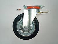 Колесо поворотное с крепежной панелью и тормозом 200/50-100 №2