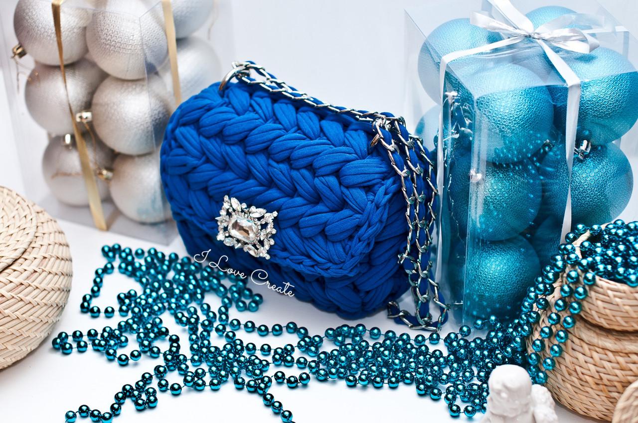 9202552aa0b6 Сумка Zefirka крючком из трикотажной пряжи на подкладке - Интернет-магазин  трикотажной пряжи Bobilon в